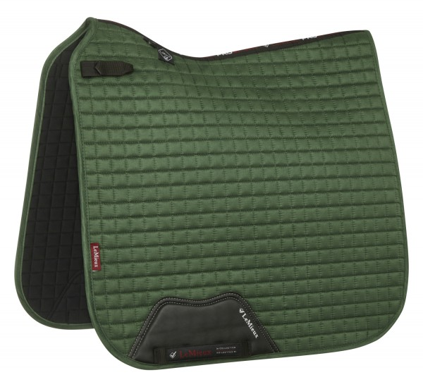 LeMieux Schabracke Luxury Suede Dressage Square hunter green