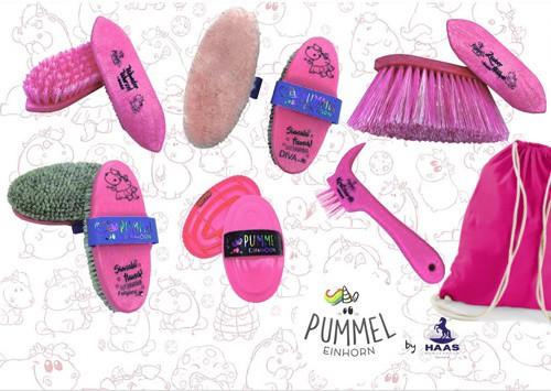 Haas Pummeleinhorn Bürstenset Pummelfee rosa-pink