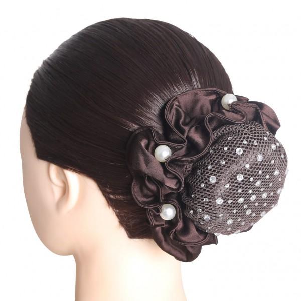 SD Design Haarnetz Clarissa mit Kristallsteinen in crystal