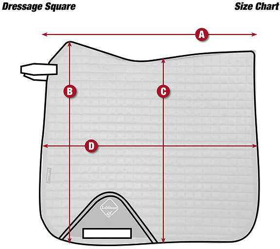 lemieux-size-chart-pad-cotton-dressage-square