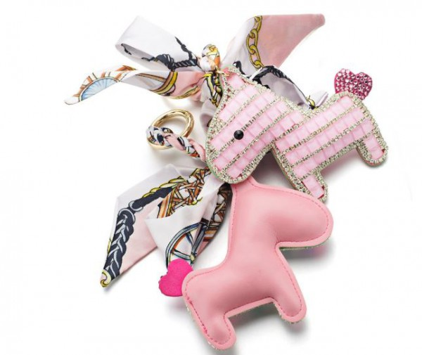 Someh Crystal Horse Keychains Anhänger pink