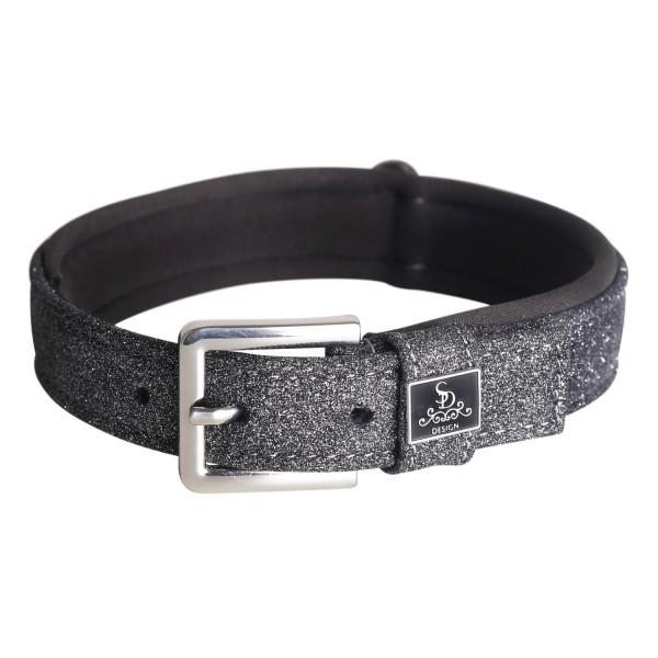 SD Design Hundehalsband Hollywood Glamorous dark shadow glitz