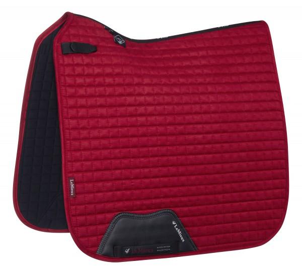 LeMieux Schabracke Luxury Suede Dressage Square chilli red