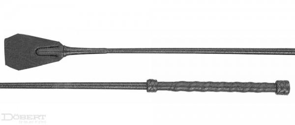 Döbert Reitstock mit Lederwellengriff und lackiertem Garn 70 cm