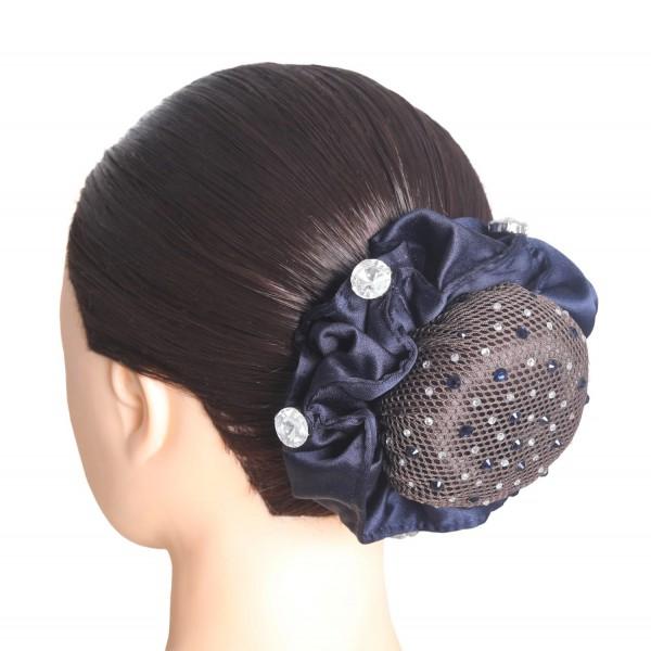 SD Design Haarnetz Clarissa mit Kristallsteinen in montana crystal