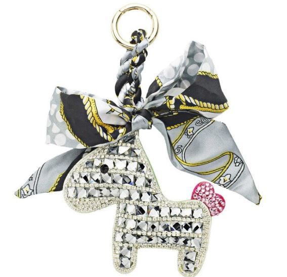 Someh Crystal Horse Keychains Anhänger silber