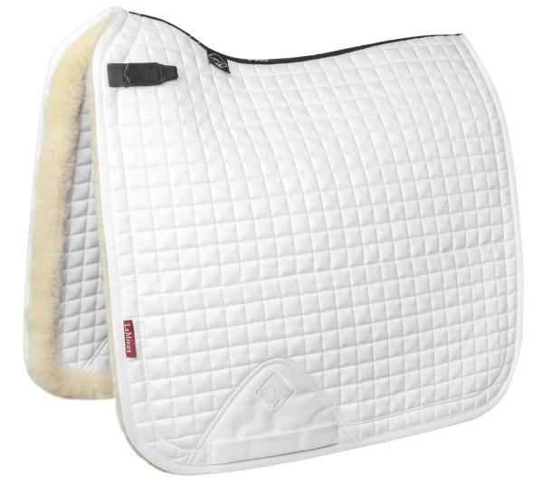 LeMieux Schabracke Merino+ Sensitive Skin Dressage Square white