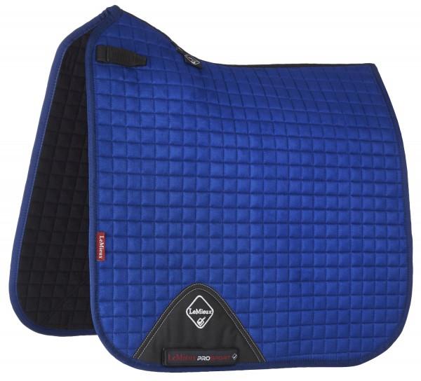 LeMieux Schabracke Luxury Suede Dressage Square benetton blue