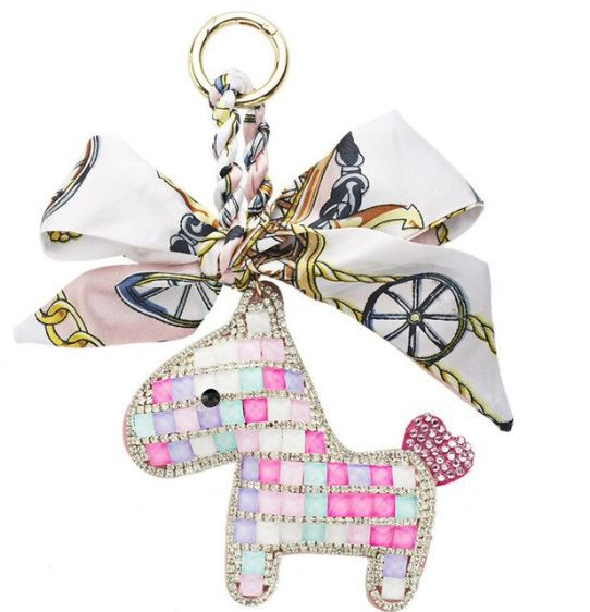 Someh Crystal Horse Keychains Anhänger multicolor