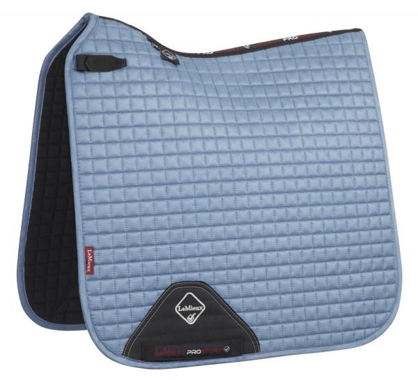 LeMieux Schabracke Luxury Suede Dressage Square ice blue