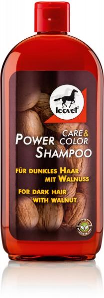 leovet Power Shampoo mit Walnusssud für dunkle Pferde