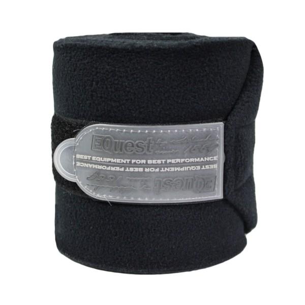 EQuest Bandagen Alpha Fleece schwarz 2er Set
